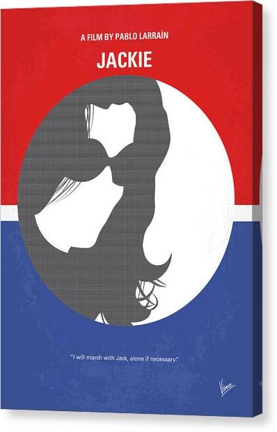 Jfk Canvas Print - No755 My Jackie Minimal Movie Poster by Chungkong Art