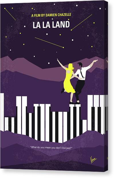 Los Angeles Canvas Print - No756 My La La Land Minimal Movie Poster by Chungkong Art