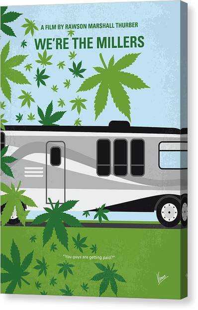 Marijuana Canvas Print - No763 My We Are The Millers Minimal Movie Poster by Chungkong Art