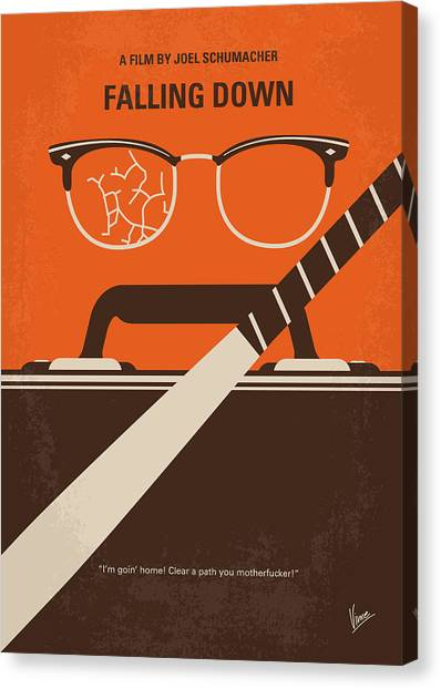 Gym Canvas Print - No768 My Falling Down Minimal Movie Poster by Chungkong Art