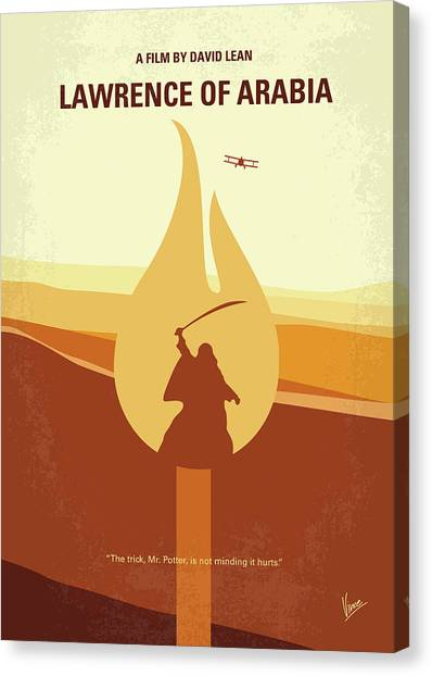 Arabian Desert Canvas Print - No772 My Lawrence Of Arabia Minimal Movie Poster by Chungkong Art