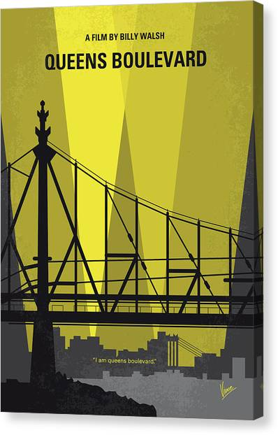 Queens Canvas Print - No776 My Queens Boulevard Minimal Movie Poster by Chungkong Art