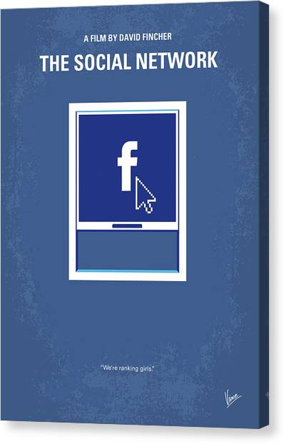 Harvard Canvas Print - No779 My The Social Network Minimal Movie Poster by Chungkong Art