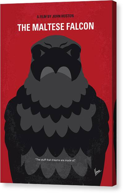 Falcons Canvas Print - No780 My The Maltese Falcon Minimal Movie Poster by Chungkong Art