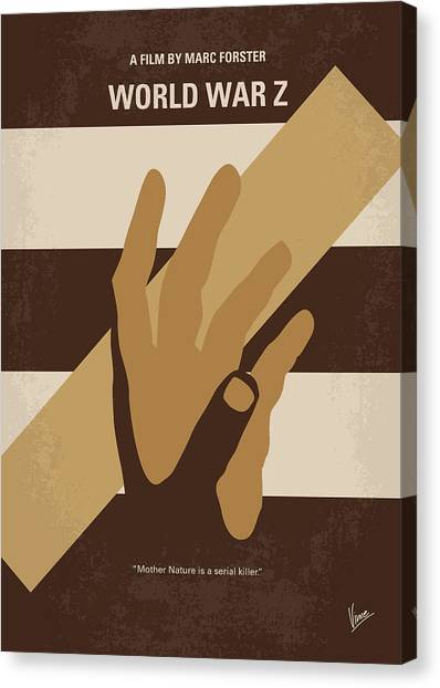 World War Z Canvas Print - No783 My World War Z Minimal Movie Poster by Chungkong Art