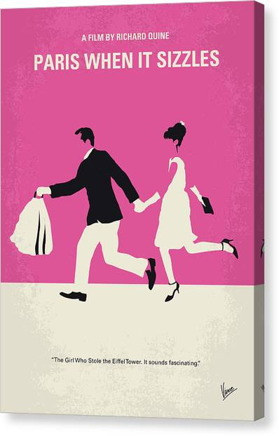 Canvas Print - No785 My Paris When It Sizzles Minimal Movie Poster by Chungkong Art