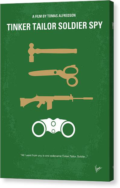 Soldiers Canvas Print - No787 My Tinker Tailor Soldier Spy Minimal Movie Poster by Chungkong Art