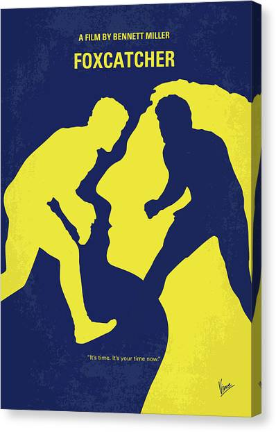 Wrestling Canvas Print - No788 My Foxcatcher Minimal Movie Poster by Chungkong Art