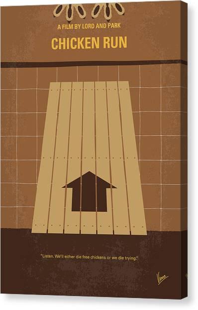 Chicken Farms Canvas Print - No789 My Chicken Run Minimal Movie Poster by Chungkong Art
