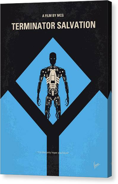 Bale Canvas Print - No802-4 My The Terminator 4 Minimal Movie Poster by Chungkong Art