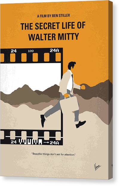 Colleges And Universities Canvas Print - No806 My The Secret Life Of Walter Mitty Minimal Movie Poster by Chungkong Art