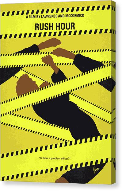Law Enforcement Canvas Print - No816 My Rush Hour Minimal Movie Poster by Chungkong Art