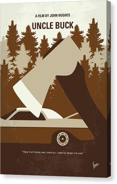 Bachelor Canvas Print - No818 My Uncle Buck Minimal Movie Poster by Chungkong Art