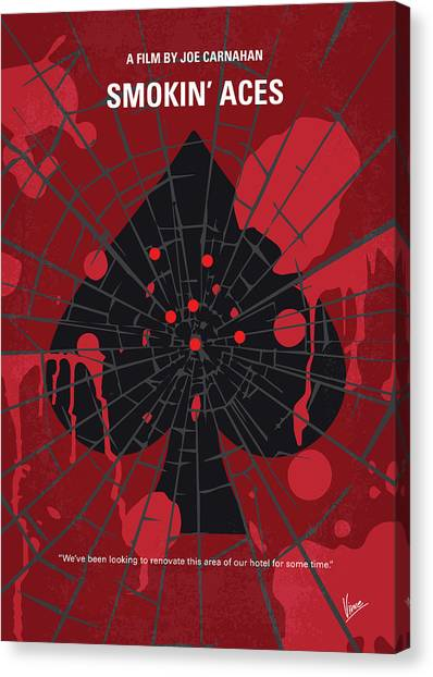 Law Enforcement Canvas Print - No820 My Smokin Aces Minimal Movie Poster by Chungkong Art