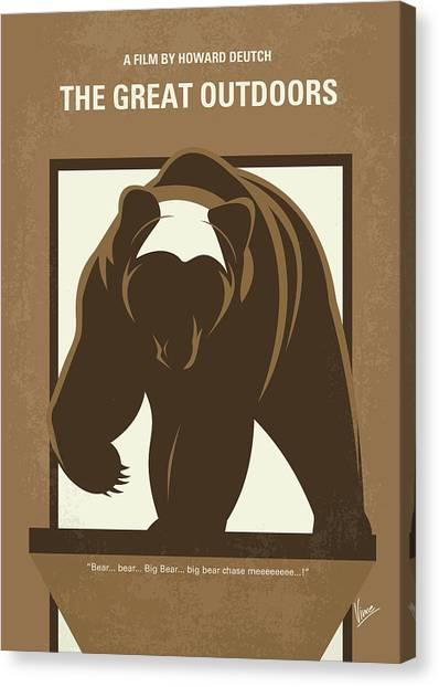 Chicago Bears Canvas Print - No824 My The Great Outdoors Minimal Movie Poster by Chungkong Art