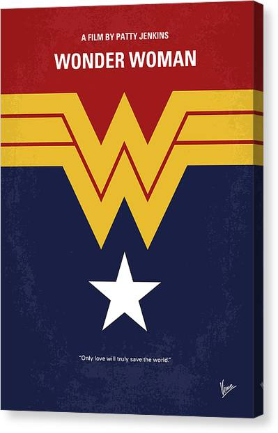 Pilots Canvas Print - No825 My Wonder Woman Minimal Movie Poster by Chungkong Art