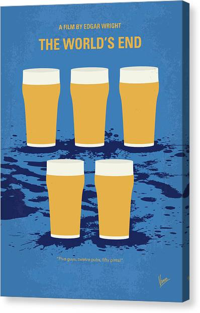 Pub Canvas Print - No843 My The Worlds End Minimal Movie Poster by Chungkong Art
