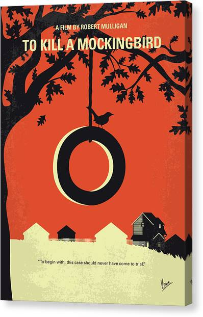 Mockingbird Canvas Print - No844 My To Kill A Mockingbird Minimal Movie Poster by Chungkong Art
