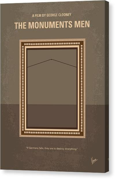 Monument Canvas Print - No845 My The Monuments Men Minimal Movie Poster by Chungkong Art