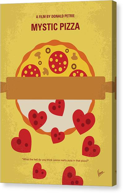 Pizza Canvas Print - No846 My Mystic Pizza Minimal Movie Poster by Chungkong Art