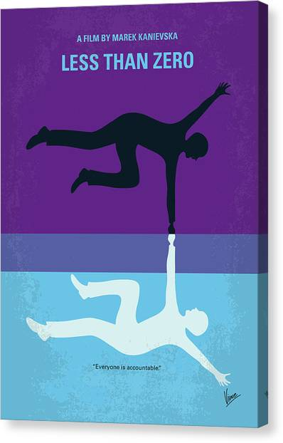 Graduation Canvas Print - No848 My Less Than Zero Minimal Movie Poster by Chungkong Art