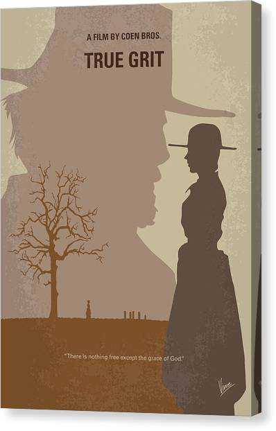 Texas Rangers Canvas Print - No860 My True Grit Minimal Movie Poster by Chungkong Art