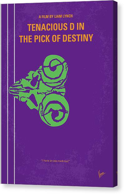 Guitar Picks Canvas Print - No863 My The Pick Of Destiny Minimal Movie Poster by Chungkong Art