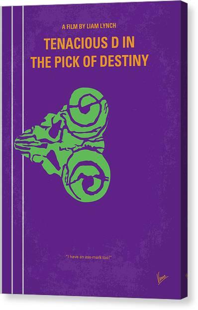 Guitar Picks Canvas Print - No863 My The Pick Of Destiny Minimal Movie Poster by Chungkong Art