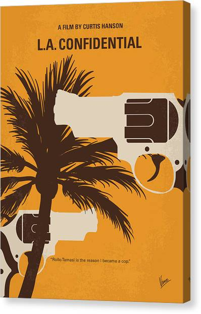 Police Canvas Print - No866 My La Confidential Minimal Movie Poster by Chungkong Art
