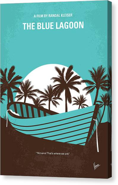 Rum Canvas Print - No871 My The Blue Lagoon Minimal Movie Poster by Chungkong Art