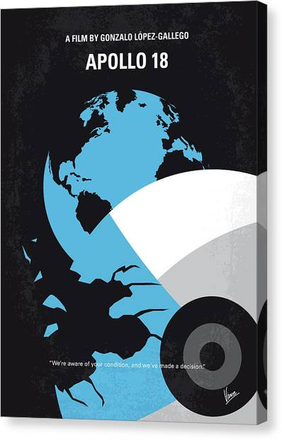 Mission Canvas Print - No873 My Apollo 18 Minimal Movie Poster by Chungkong Art