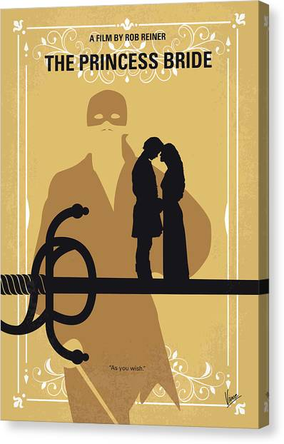Bride Canvas Print - No877 My The Princess Bride Minimal Movie Poster by Chungkong Art
