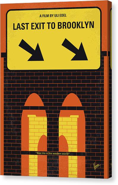 1950s Movies Canvas Print - No879 My Last Exit To Brooklyn Minimal Movie Poster by Chungkong Art