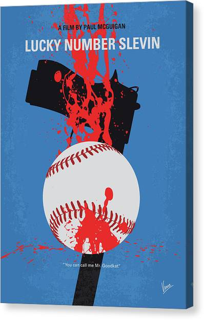 Lucky Canvas Print - No880 My Lucky Number Slevin Minimal Movie Poster by Chungkong Art