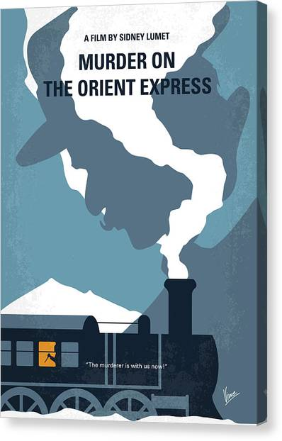 Expressing Canvas Print - No883 My Murder On The Orient Express Minimal Movie Poster by Chungkong Art