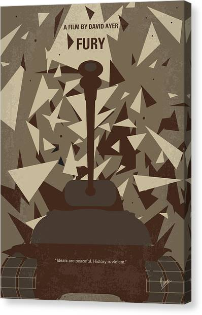 Tanks Canvas Print - No885 My Fury Minimal Movie Poster by Chungkong Art