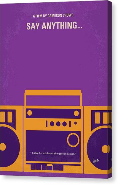 High School Canvas Print - No886 My Say Anything Minimal Movie Poster by Chungkong Art