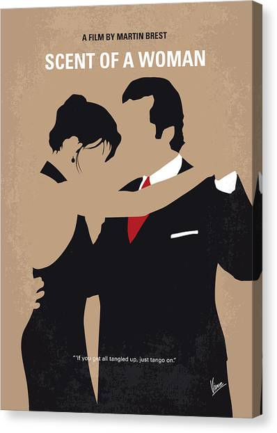 Tango Canvas Print - No888 My Scent Of A Woman Minimal Movie Poster by Chungkong Art