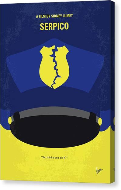 Police Canvas Print - No891 My Serpico Minimal Movie Poster by Chungkong Art