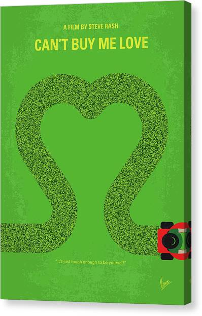 High School Canvas Print - No894 My Cant Buy Me Love Minimal Movie Poster by Chungkong Art