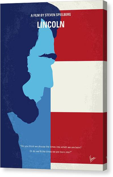 Racism Canvas Print - No895 My Lincoln Minimal Movie Poster by Chungkong Art