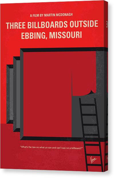Missouri Canvas Print - No900 My Three Billboards Minimal Movie Poster by Chungkong Art