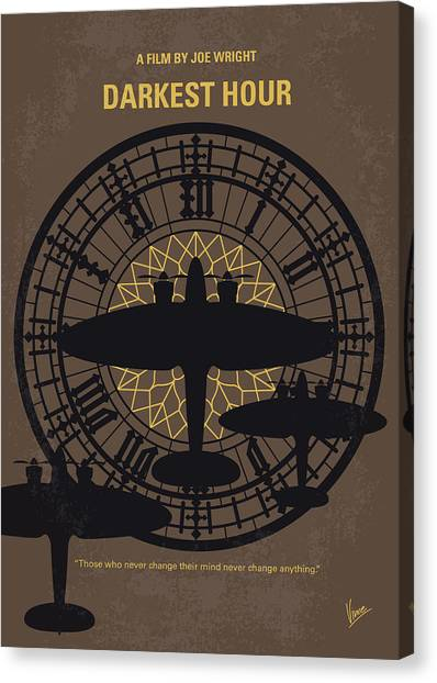 Westminster Abbey Canvas Print - No901 My Darkest Hour Minimal Movie Poster by Chungkong Art