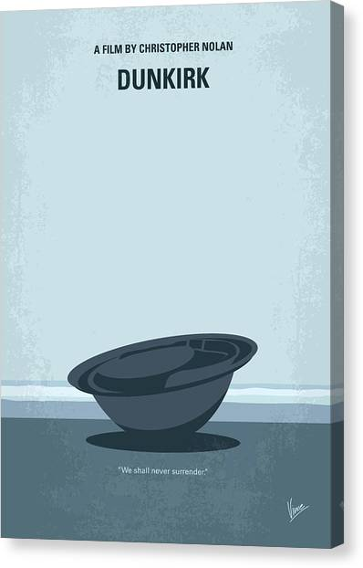Soldiers Canvas Print - No905 My Dunkirk Minimal Movie Poster by Chungkong Art