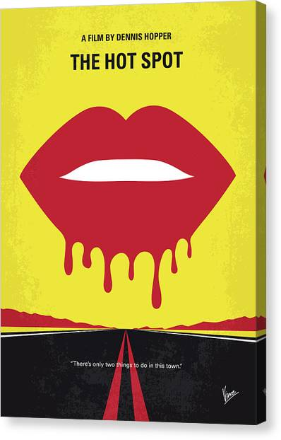 Dennis Hopper Canvas Print - No908 My The Hot Spot Minimal Movie Poster by Chungkong Art