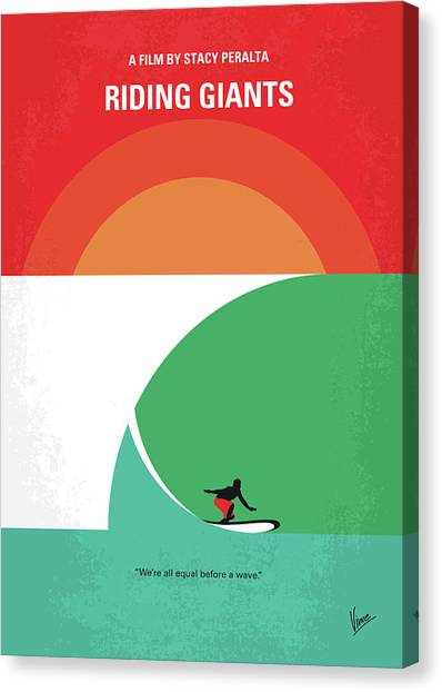 Culture Canvas Print - No915 My Riding Giants Minimal Movie Poster by Chungkong Art