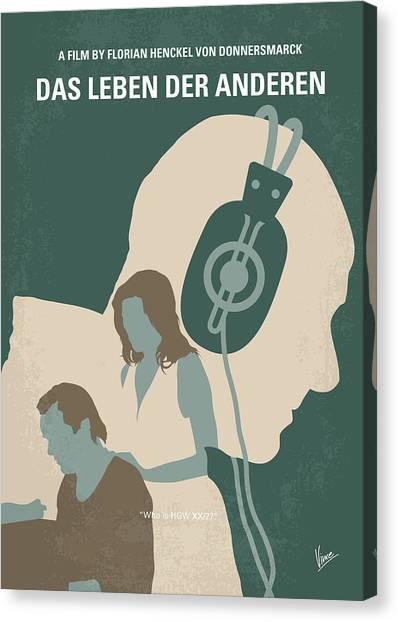 Other Canvas Print - No918 My Das Leben Der Anderen Minimal Movie Poster by Chungkong Art