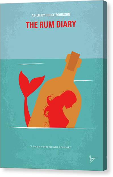 Johnny Depp Canvas Print - No925 My The Rum Diary Minimal Movie Poster by Chungkong Art