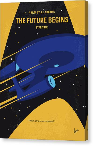 Starship Enterprise Canvas Print - No930 My St The Future Begins Minimal Movie Poster by Chungkong Art