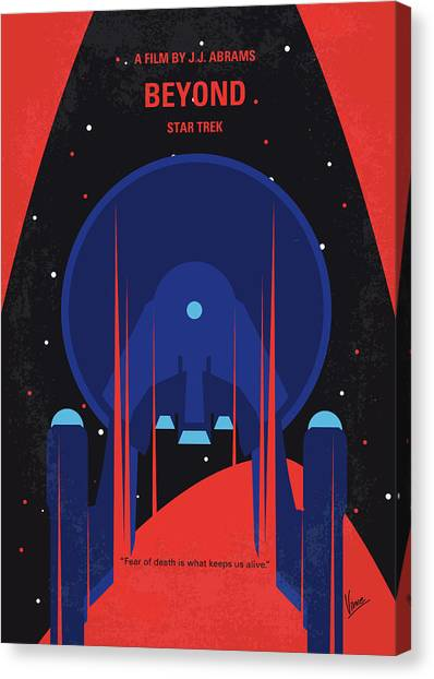 Starship Enterprise Canvas Print - No932 My St Beyond Minimal Movie Poster by Chungkong Art